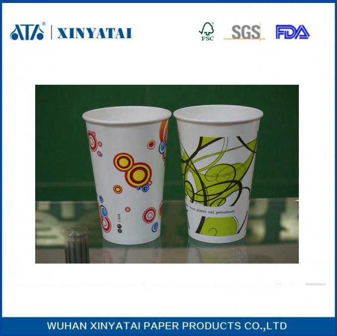 Recycled Cold Drink Paper Cups Disposable Coffee Cups with Custom Printed Logo