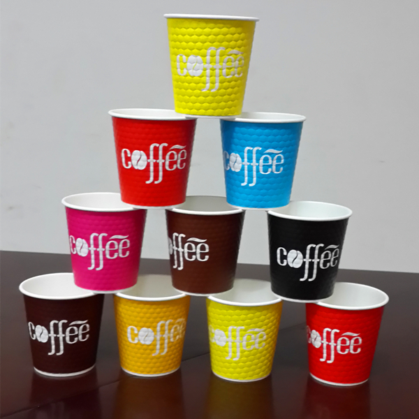 Customized Ripple Paper Coffee Cups , Custom Printed Paper