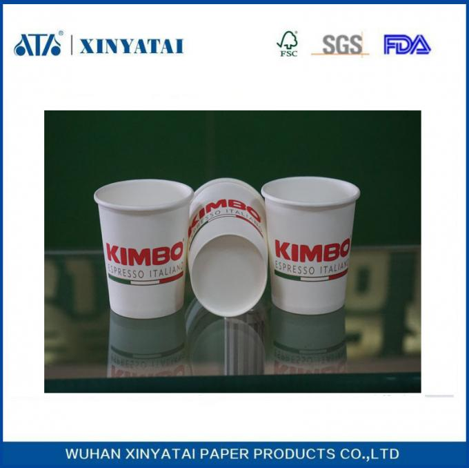 Disposable Custom Paper Coffee Cups / Insulated Paper Tea Cups Eco-friendly
