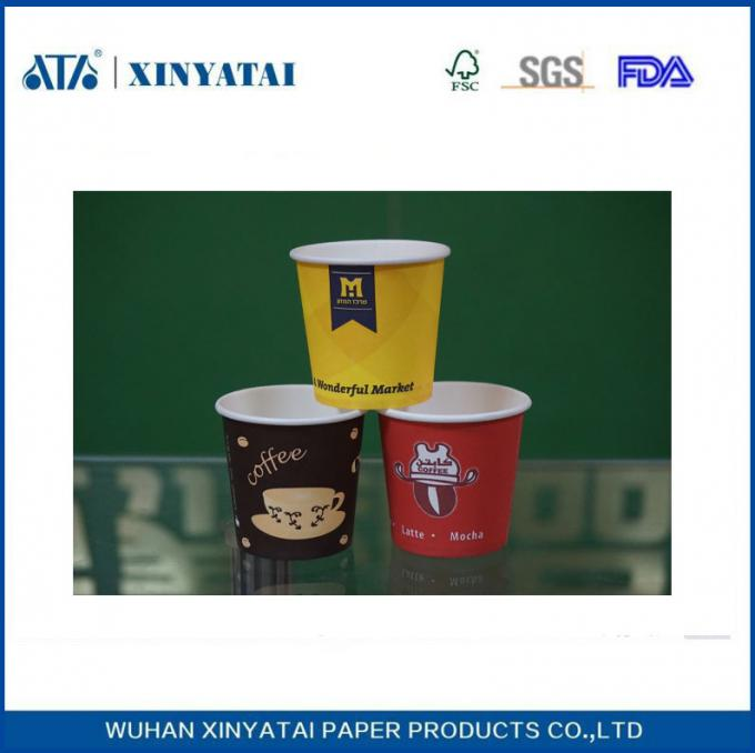 Adiabatic Custom Printed Paper Coffee Cups 12oz Disposable Tea Cups with PE Coating Paper