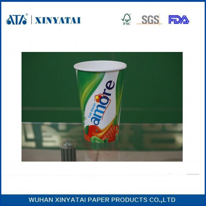 8 - 16oz  Double PE Coated Custom Printed Paper Cups for Cold Drinks Multi Color