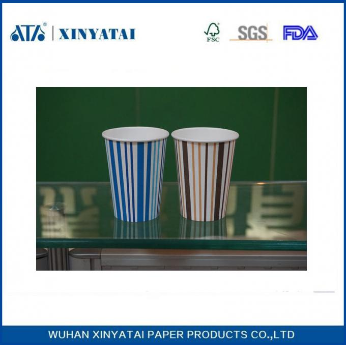 Custom Disposable Hot Drink Paper Cups / Insulated Recyclable single Wall Paper Cup