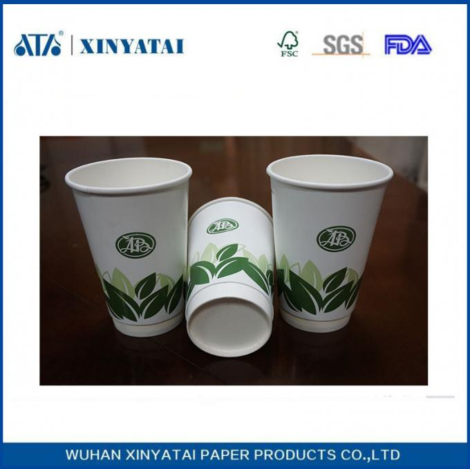 16oz Heat - insulated Custom Paper Coffee Cups Hot Cup With Lids