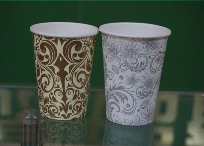 Disposable Hot Drink Paper Cups 16OZ Single Wall or Double Wall Logo Printed