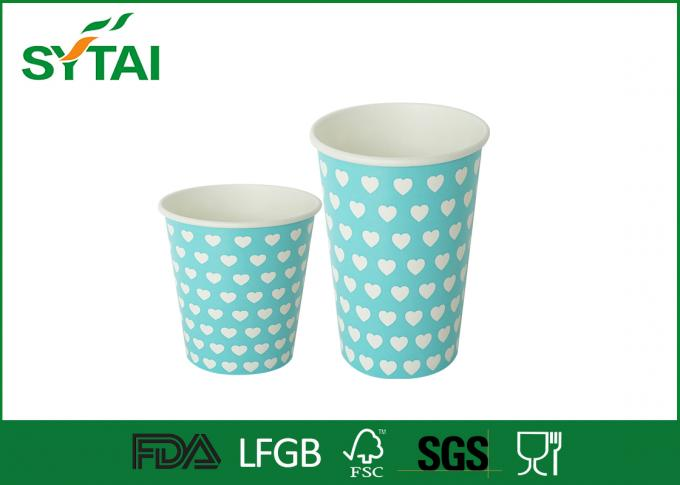Home / Office Single Walled Paper Cup , Paper Beverage Cups 16 oz  500ml Large Capacity