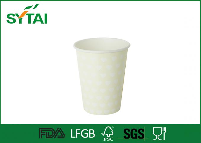 Food Grade 7oz Ink Flexo Printed Single Wall Paper Cups for Drinking Coffee and Tea