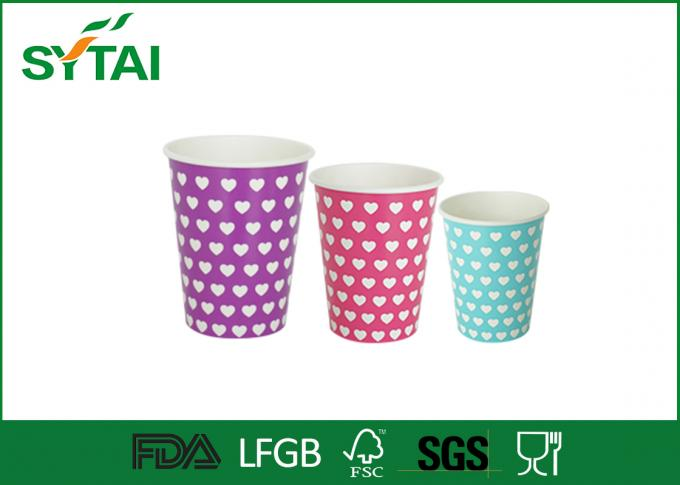 12oz  400ml Eco-friendly Recycled Paper Cups , Biodegradable Single Wall Paper Coffee Cups