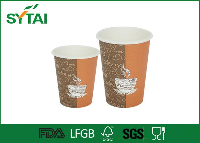Printing Disposable Costa Printed Paper Coffee Cups PS Flat Coffee Lids