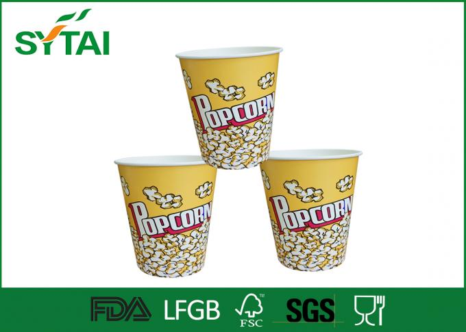 Cute Funny  Printed Paper Popcorn Buckets / Popcorn Tubs / Popcorn Boxes Eco-friendly
