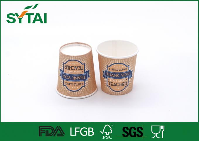 Eco - friendly Personalised Disposable Drinking Cups Printing With Teacher