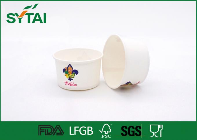 6 Oz Size 240 ML Disposable Eco - friendly White Paper Ice Cream Cups Impermeable