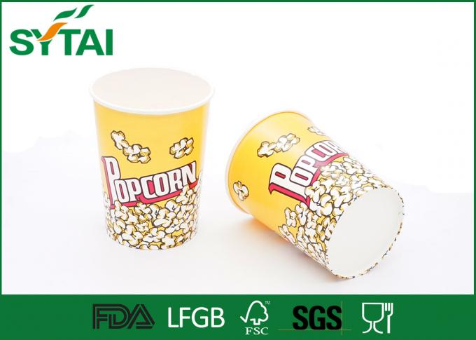 24-170oz Disposible Recycled Paper Popcorn Buckets With Customized Printing