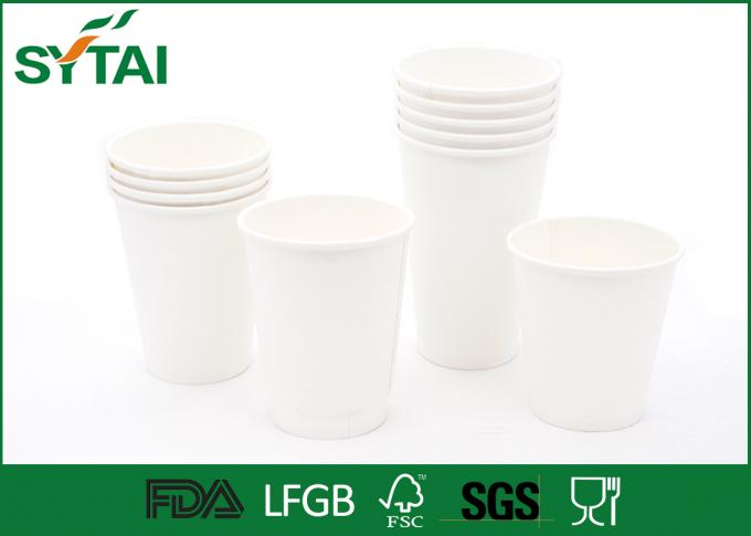 Polymer Materials Biodegradable Paper Cups For Tea , Cardboard Coffee Cups