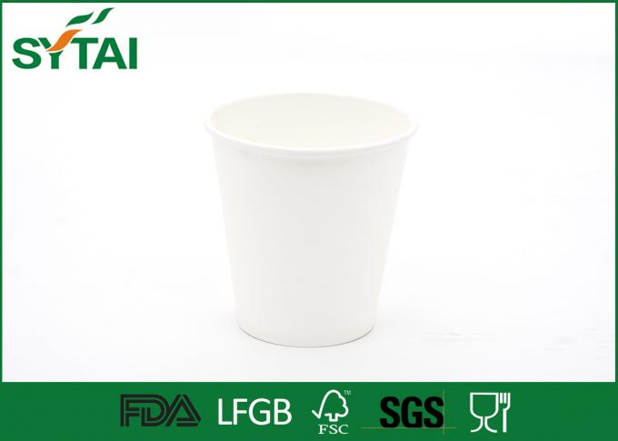 Corn / Cassava PLA Paper Cups , Personalized Disposable Coffee Cups