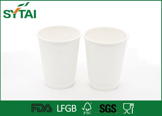 Print Clearly White PLA Paper Cups Disposable Tea Cups Customized