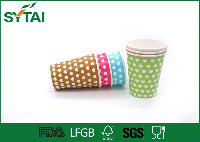 Disposable Hot Drink Paper Cups , biodegradable coffee cups Single PE Coated