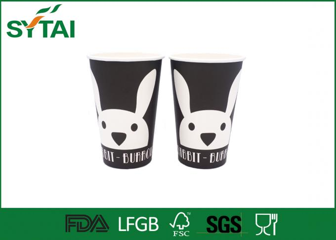 Take Out Single Wall Paper Cups With Flexo / Offset Printing , Disposable Drinking Cups