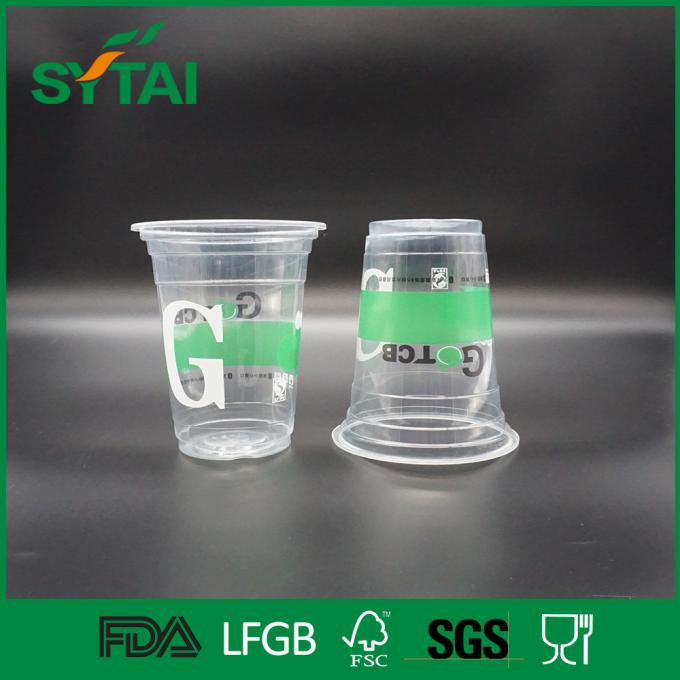 Many Size Custom Disposable Plastic Cups , Clear Plastic Container With Lid