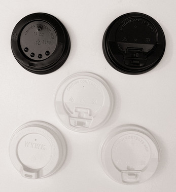 China Plastic Flat / Dome Paper Cup Lids for Coffee or Ice Cream Paper Cups supplier
