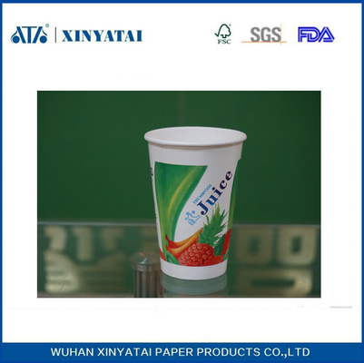 China Recycled Cold Drink Paper Cups Disposable Coffee Cups with Custom Printed Logo supplier