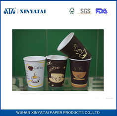 China Disposable Custom Paper Coffee Cups / Insulated Paper Tea Cups Eco-friendly supplier
