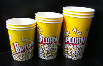 Recyclable Food Packaging Custom Popcorn Bucket , Small Popcorn Boxes