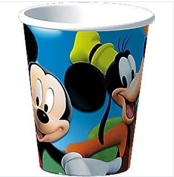 China Recyclable Custom Paper Popcorn Buckets with Mickey Mouse Offset Printing supplier