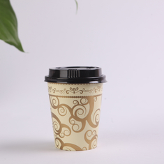 China Adiabatic Custom Paper Coffee Cups with Cover , Disposable Coffee Cups with Lids supplier