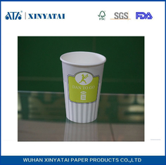 China Logo Printing Double PE Coated Cold Drink Paper Cups Custom Printed Paper Coffee Cups supplier