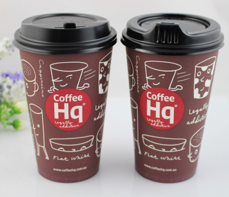 China 80mm / 90mm Black Coffee Spout Paper Cup Lids For Matching Paper Cups supplier