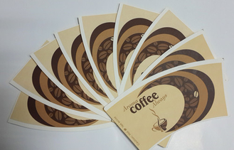 China Waterproof Printing Paper Coffee Cup Fan with Food Grade Wood Pulp Paper supplier