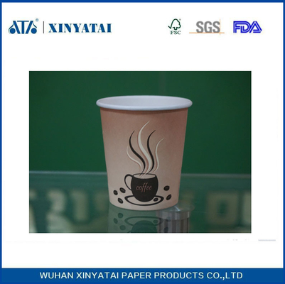 China Single Wall Disposable Hot Drink Paper Cups , Printing Customised Paper Cups supplier