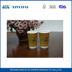 China Double Wall Disposable Paper Coffee Cups / Recycled Printed Paper Espresso Cups supplier