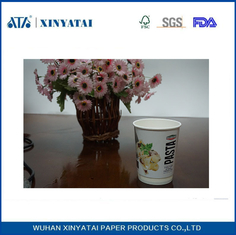 China Logo Printed Insulated Disposable Paper Cups , Double Wall Beverage Takeaway Cups supplier