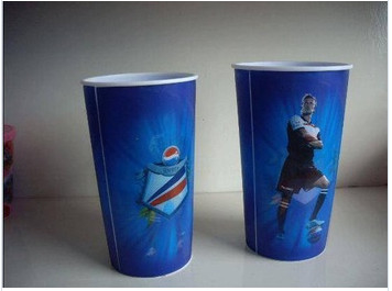 China Football Star Printed Paper Popcorn Containers with Lids , Popcorn Packaging Tubs and Cups supplier