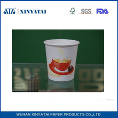 China Disposable PE Coated Double Walled Paper Coffee Cups , Insulated Paper Espresso Cups supplier