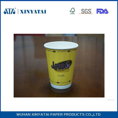 China Double Wall Customized Paper Coffee Cups 12oz 400ml OEM With Logo supplier