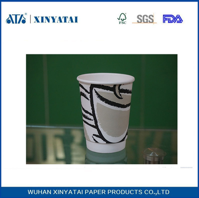 China 16oz Heat - insulated Custom Paper Coffee Cups Hot Cup With Lids supplier