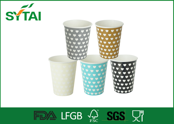 China 12oz  400ml Eco-friendly Recycled Paper Cups , Biodegradable Single Wall Paper Coffee Cups supplier