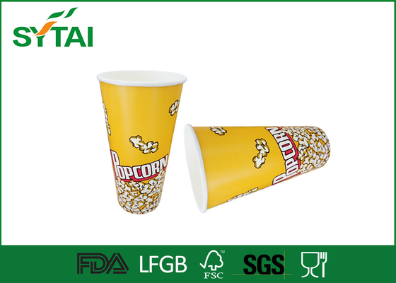 China Custom Printed Paper Popcorn Buckets Greaseproof and Waterproof Popcorn Container supplier