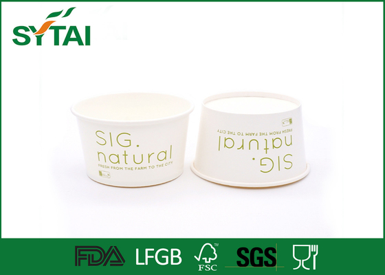 China FDA / SGS / ISO9001 Recycled Salad Paper Bowl For Fresh Fruit And Vegetables supplier