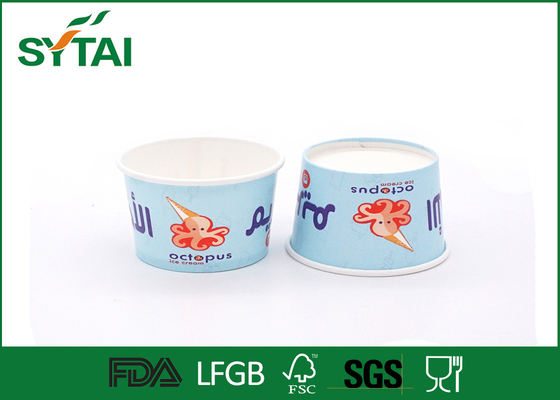 China Disposable Thicken Small Paper Ice Cream Cups With Flexo Printing , 4 Oz supplier