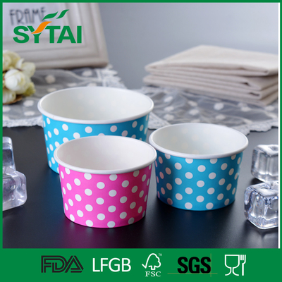 China 3-32oz  Disposable Ice Cream Paper Cup with Flexo Printing Eco - Friendly supplier