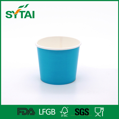 China Colorful Disposable Paper Ice Cream Cups with Flexo Printing , Eco - Friendly supplier