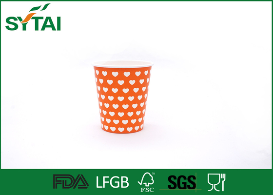 China Orange Color Charming Hot Drink Paper Cups Disposable Gorgeous Design supplier