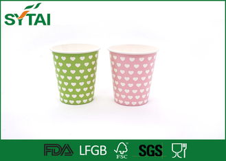 China Disposable Hot Drink Paper Cups , biodegradable coffee cups Single PE Coated supplier