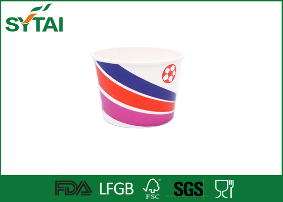 China 32OZ Colorful Paper Ice Cream Cups Double PE Coated Congratuation Use supplier