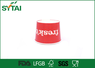 China Red Beautiful Disposable Ice Cream Cups Eco Friendly Logo Customized supplier