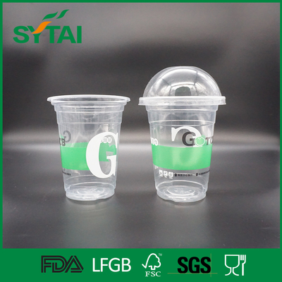 China Many Size Custom Disposable Plastic Cups , Clear Plastic Container With Lid supplier