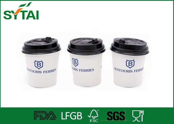China Disposable Blue Custom Printed Paper Cups For Friendship , Biodegradable supplier